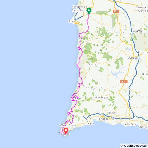 Portugal Wild Coast Cycling Tour