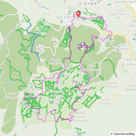 Sintra hiking map